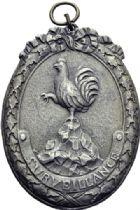 Photo numismatique  ARCHIVES VENTE 2014 -Coll J P Dixméras MEDAILLES ET JETONS LOUIS XVI (1774-1793) et RÉVOLUTION FRANÇAISE  1662- Insigne uniface de surveillance, (1795).
