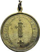Photo numismatique  ARCHIVES VENTE 2014 -Coll J P Dixméras MÉDAILLES ET JETONS LOUIS XVI (1774-1793) et RÉVOLUTION FRANÇAISE  1660- Insigne uniface, 1792.