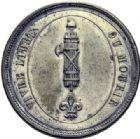Photo numismatique  ARCHIVES VENTE 2014 -Coll J P Dixméras MEDAILLES ET JETONS LOUIS XVI (1774-1793) et RÉVOLUTION FRANÇAISE  1659- Insigne, 1792.