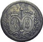Photo numismatique  ARCHIVES VENTE 2014 -Coll J P Dixméras MÉDAILLES ET JETONS LOUIS XVI (1774-1793) et RÉVOLUTION FRANÇAISE  1657- Essai non ébarbé à la Nation, la Loi, le Roi, 1791.