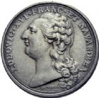 Photo numismatique  ARCHIVES VENTE 2014 -Coll J P Dixméras MÉDAILLES ET JETONS LOUIS XVI (1774-1793) et RÉVOLUTION FRANÇAISE  1656- Jeton de l'Académie royale de Peinture et Sculpture, (1791).