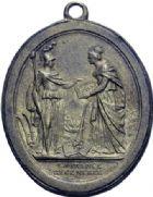 Photo numismatique  ARCHIVES VENTE 2014 -Coll J P Dixméras MÉDAILLES ET JETONS LOUIS XVI (1774-1793) et RÉVOLUTION FRANÇAISE  1655- Pacte fédératif du 14 juillet 1790.