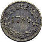 Photo numismatique  ARCHIVES VENTE 2014 -Coll J P Dixméras MEDAILLES ET JETONS LOUIS XVI (1774-1793) et RÉVOLUTION FRANÇAISE  1645- La Bastille.