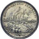 Photo numismatique  ARCHIVES VENTE 2014 -Coll J P Dixméras MÉDAILLES ET JETONS LOUIS XIV (1643-1715) et son époque  1640- Médaille en argent, Bombardement et prise de Tournai, 1709.