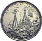 Photo numismatique  ARCHIVES VENTE 2014 -Coll J P Dixméras MEDAILLES ET JETONS LOUIS XIV (1643-1715) et son époque  1640- Médaille en argent, Bombardement et prise de Tournai, 1709.