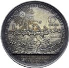 Photo numismatique  ARCHIVES VENTE 2014 -Coll J P Dixméras MEDAILLES ET JETONS LOUIS XIV (1643-1715) et son époque  1639- Médaille en argent, Siège de Lille, 22 août au 23 octobre 1708.