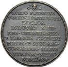 Photo numismatique  ARCHIVES VENTE 2014 -Coll J P Dixméras MEDAILLES ET JETONS LOUIS XIV (1643-1715) et son époque  1636- Médaille en bronze de Guy Potier, médecin du Roi, Rome 1689.