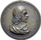 Photo numismatique  ARCHIVES VENTE 2014 -Coll J P Dixméras MEDAILLES ET JETONS LOUIS XIV (1643-1715) et son époque  1635- Médaille en bronze de Guy Potier, Rome 1665.