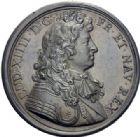 Photo numismatique  ARCHIVES VENTE 2014 -Coll J P Dixméras MÉDAILLES ET JETONS LOUIS XIV (1643-1715) et son époque  1633- Médaille en bronze des libéralités du Roi durant la famine, 1662.