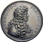 Photo numismatique  ARCHIVES VENTE 2014 -Coll J P Dixméras MEDAILLES ET JETONS LOUIS XIV (1643-1715) et son époque  1632- Médaille en bronze des cérémonies du mariage du Roi par Loir, 1660.
