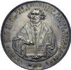 Photo numismatique  ARCHIVES VENTE 2014 -Coll J P Dixméras MÉDAILLES ET JETONS LOUIS XIII (1610-1643) et son époque  1631- MARTIN LUTHER. (1483-1546). Médaille de S. Dadler (Saxe) pour le premier centenaire de la Réforme, 1630.