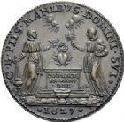 Photo numismatique  ARCHIVES VENTE 2014 -Coll J P Dixméras MÉDAILLES ET JETONS LOUIS XIII (1610-1643) et son époque  1628- Médaille en bronze commémorant le dépôt du cœur du roi Henri III à Saint-Cloud en 1627.