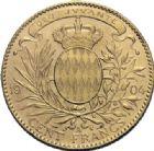 Photo numismatique  ARCHIVES VENTE 2014 -Coll J P Dixméras MONNAIES DU MONDE MONACO ALBERT Ier (1889-1922) 1624- 100 francs, Paris 1904.
