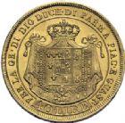 Photo numismatique  ARCHIVES VENTE 2014 -Coll J P Dixméras MONNAIES DU MONDE ITALIE PARME. Marie Louise (14 septembre 1815-16 décembre 1847) 1619- 40 lire or, Milan 1815.