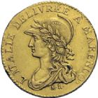 Photo numismatique  ARCHIVES VENTE 2014 -Coll J P Dixméras MONNAIES DU MONDE ITALIE République SUBALPINE (1800-1802) 1618- 20 francs or dite « Marengo », Turin an 10.