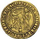 Photo numismatique  ARCHIVES VENTE 2014 -Coll J P Dixméras MONNAIES DU MONDE ITALIE NAPLES, Charles Ier d'Anjou (1246-1285) 1616- Salut d'or, Naples après 1278.