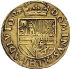 Photo numismatique  ARCHIVES VENTE 2014 -Coll J P Dixméras MONNAIES DU MONDE PAYS-BAS HOLLANDE, Philippe II (1555-1598) 1604- 1/2 real d'or, Dordrecht (1560-1562).