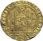 Photo numismatique  ARCHIVES VENTE 2014 -Coll J P Dixméras MONNAIES DU MONDE PAYS-BAS HOLLANDE, GUILLAUME VI de Bavière. (1404-1417) 1602- Chaise d'or.