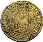 Photo numismatique  ARCHIVES VENTE 2014 -Coll J P Dixméras MONNAIES DU MONDE PAYS-BAS GUELDRE, Château d'Oyen - MARIE de BRABANT (1361-1399) 1601- Florin d'or rhénan.