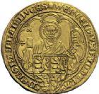 Photo numismatique  ARCHIVES VENTE 2014 -Coll J P Dixméras MONNAIES DU MONDE BELGIQUE BRABANT, Jeanne et Wenceslas (1355-1383) 1599- Pieter d'or, Louvain.