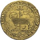 Photo numismatique  ARCHIVES VENTE 2014 -Coll J P Dixméras MONNAIES DU MONDE BELGIQUE BRABANT, Jeanne et Wenceslas (1355-1383) 1597- Mouton d'or, Vilvorde.