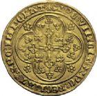 Photo numismatique  ARCHIVES VENTE 2014 -Coll J P Dixméras MONNAIES DU MONDE BELGIQUE FLANDRE, Louis de Mâle (1346-1384) 1596- Nouvelle chaise d'or au lion, Gand ou Malines, 1370-1372.