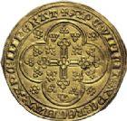 Photo numismatique  ARCHIVES VENTE 2014 -Coll J P Dixméras MONNAIES DU MONDE BELGIQUE FLANDRE, Louis de Mâle (1346-1384) 1595- Nouvelle chaise d'or, Gand ou Malines, 1370-1372.