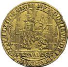 Photo numismatique  ARCHIVES VENTE 2014 -Coll J P Dixméras MONNAIES DU MONDE BELGIQUE FLANDRE, Louis de Mâle (1346-1384) 1592- Lion d'or, Gand 1365-1367 et 1370.