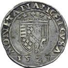 Photo numismatique  ARCHIVES VENTE 2014 -Coll J P Dixméras BARONNIALES Duché de LORRAINE ANTOINE (1508-1544) 1584- Teston, Nancy 1527.