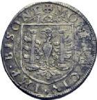 Photo numismatique  ARCHIVES VENTE 2014 -Coll J P Dixméras BARONNIALES Cité de BESANCON Monnayage au nom de CHARLES QUINT 1580- Lot de 5 monnaies.