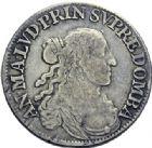 Photo numismatique  ARCHIVES VENTE 2014 -Coll J P Dixméras BARONNIALES Principauté des DOMBES ANNE MARIE LOUISE (1650-1693) 1577- 1/2 écu, Paris 1673.