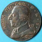 Photo numismatique  MONNAIES MONNAIES DU MONDE ANGLETERRE GEORGE III (1760-1820) Half-penny de Birmingham de 1792.
