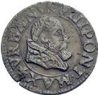 Photo numismatique  ARCHIVES VENTE 2014 -Coll J P Dixméras BARONNIALES Comtat VENAISSIN URBAIN VIII (1623-1644) 1573- Double tournois, 1640.