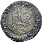 Photo numismatique  ARCHIVES VENTE 2014 -Coll J P Dixméras BARONNIALES Principauté d'ORANGE MAURICE DE NASSAU (1618-1625) 1572- 1/2 franc, 1620.