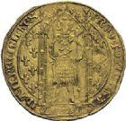 Photo numismatique  ARCHIVES VENTE 2014 -Coll J P Dixméras BARONNIALES Comté de PROVENCE JEANNE de NAPLES (1343-1382) 1569- Franc d'or à pied du 6ème type.