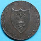Photo numismatique  MONNAIES MONNAIES DU MONDE ANGLETERRE GEORGE III (1760-1820) Half-penny de Southampton de 1791.