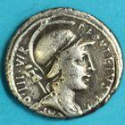 Photo numismatique  MONNAIES RÉPUBLIQUE ROMAINE P. Fonteius P. F. Capito (vers 55)  Denier.