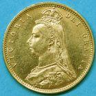 Photo numismatique  MONNAIES MONNAIES DU MONDE ANGLETERRE VICTORIA (1837-1901) Demi-souverain or de 1892.
