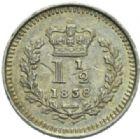 Photo numismatique  MONNAIES MONNAIES DU MONDE ANGLETERRE VICTORIA (1837-1901) Un et demi-penny de 1838, pour les colonies.