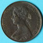 Photo numismatique  MONNAIES MONNAIES DU MONDE ANGLETERRE VICTORIA (1837-1901) Half-penny de 1861.