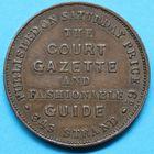 Photo numismatique  JETONS MONNAIES DU MONDE ANGLETERRE VICTORIA (1837-1901) Jeton privé, Court Gazette.