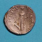 Photo numismatique  MONNAIES RÉPUBLIQUE ROMAINE L. Hostilius Saserna (vers 48)  Denier.