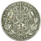 Photo numismatique  MONNAIES MONNAIES DU MONDE BELGIQUE ROYAUME, Léopold Ier (1831-1865) 20 centimes de 1853.