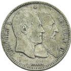 Photo numismatique  MONNAIES MONNAIES DU MONDE BELGIQUE ROYAUME, Léopold II. (1865-1909) 2 francs, 50e anniversaire de l'indépendance en 1880.