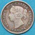 Photo numismatique  MONNAIES MONNAIES DU MONDE CANADA VICTORIA (1837-1901) 5 cents de 1885.