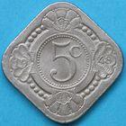 Photo numismatique  MONNAIES MONNAIES DU MONDE CURACAO WILHELMINE (1890-1948) 5 cents de 1948.