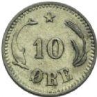Photo numismatique  MONNAIES MONNAIES DU MONDE DANEMARK CHRISTIAN IX (1863-1906) 10 ore de 1874.