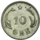Photo numismatique  MONNAIES MONNAIES DU MONDE DANEMARK CHRISTIAN IX (1863-1906) 10 ore de 1884.