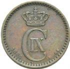 Photo numismatique  MONNAIES MONNAIES DU MONDE DANEMARK CHRISTIAN IX (1863-1906) 1 ore de 1886.