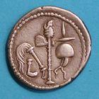 Photo numismatique  MONNAIES RÉPUBLIQUE ROMAINE JULES CESAR (100-44)  Denier.